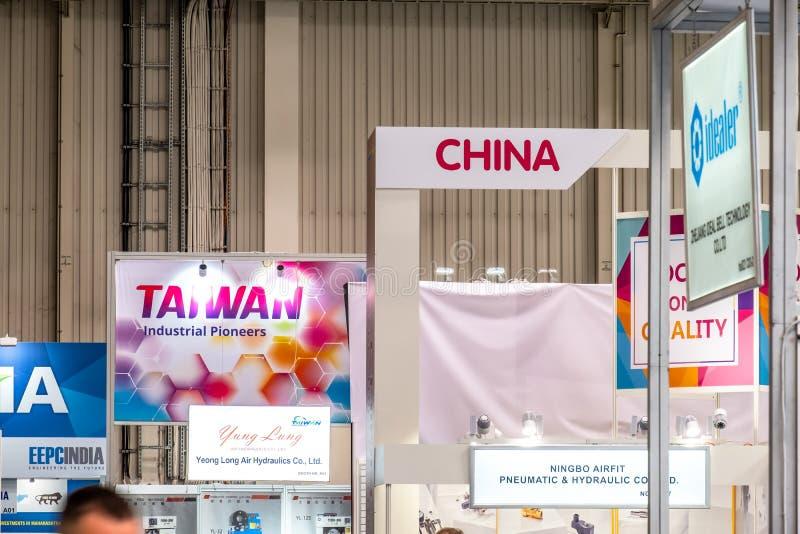 Hanovre, Allemagne - 2 avril 2019 : La Chine est la terre la plus forte dans cette foire en mati?re de technologie principale mon photographie stock libre de droits
