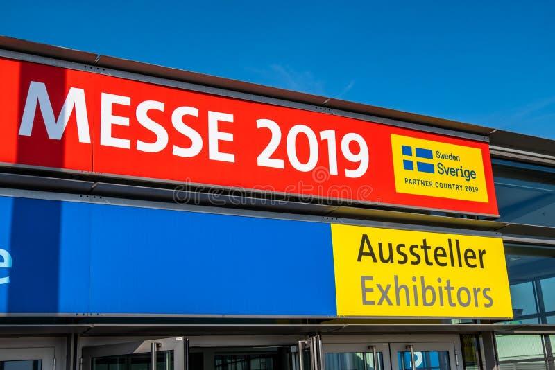 Hanovre, Allemagne - 2 avril 2019 : La FOIRE de HANOVRE demeure l'?talage principal mondial pour la technologie industrielle photo libre de droits
