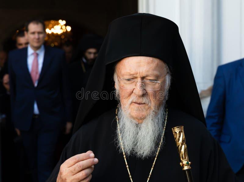 Hans All-helighet ekumeniska patriark Bartholomew fotografering för bildbyråer