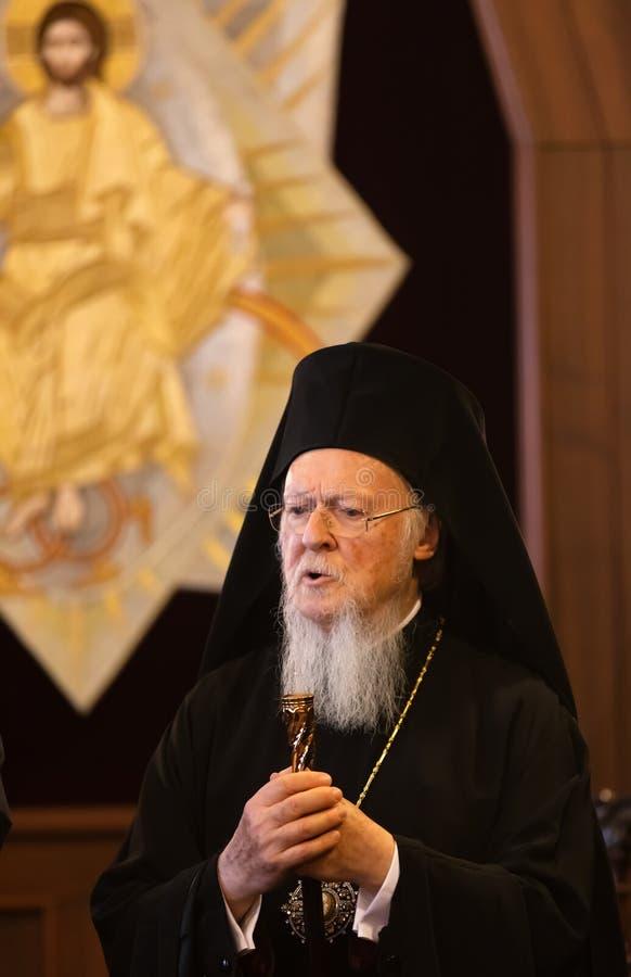Hans All-helighet ekumeniska patriark Bartholomew arkivfoto