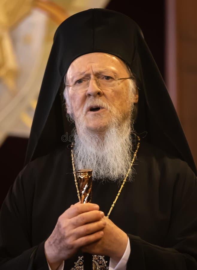 Hans All-helighet ekumeniska patriark Bartholomew royaltyfri foto