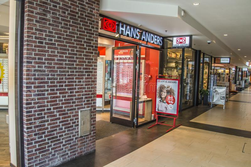 Hans Anders Opticians Shop At Diemen o 2018 holandês fotografia de stock royalty free