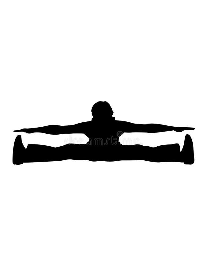 hans ben man sträckning royaltyfri illustrationer