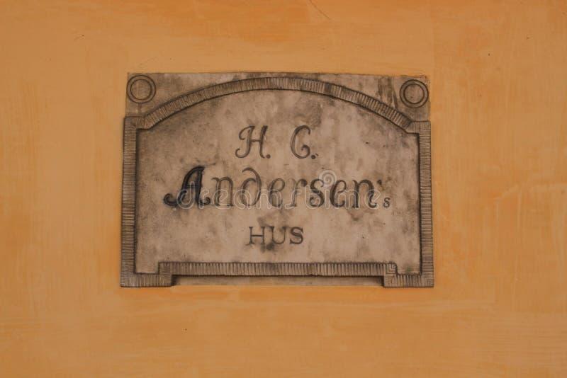 Hans Christian Andersen House in der Stadt Odense in Danmark lizenzfreies stockfoto