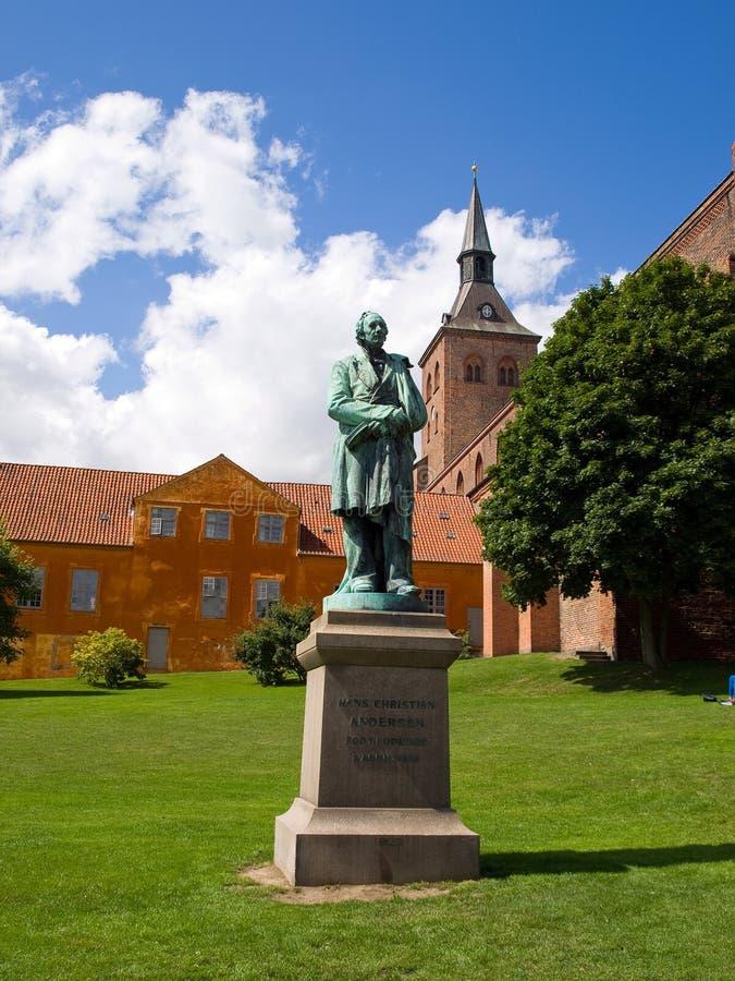 Hans Christian Andersen Odense Denmark. Sculpture statue of Hans Christian Andersen Odense Denmark stock photography