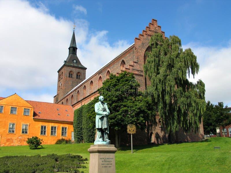 Hans Christian Andersen Odense Denmark. Sculpture statue of Hans Christian Andersen Odense Denmark royalty free stock images