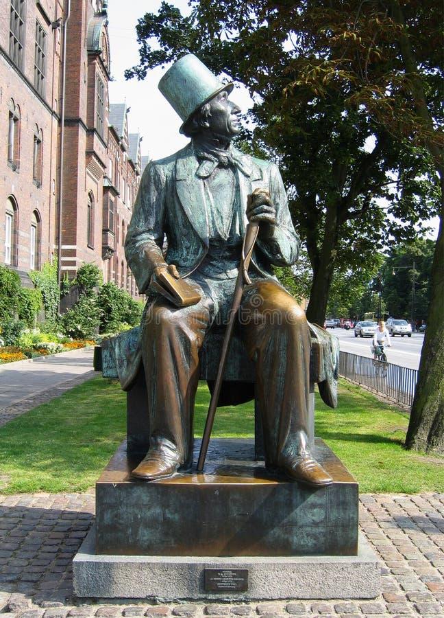 Hans Christian Andersen-standbeeld in Kopenhagen royalty-vrije stock foto