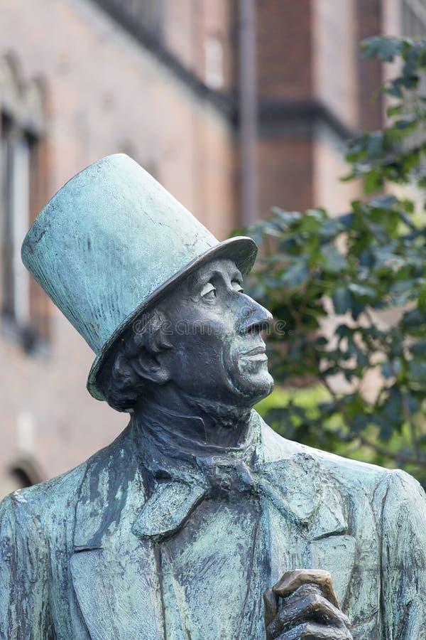 Hans Christian Andersen-standbeeld, Kopenhagen, Denemarken royalty-vrije stock fotografie