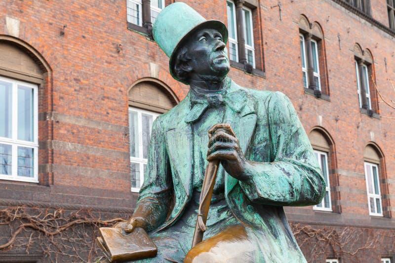 Hans Christian Andersen staty arkivbild