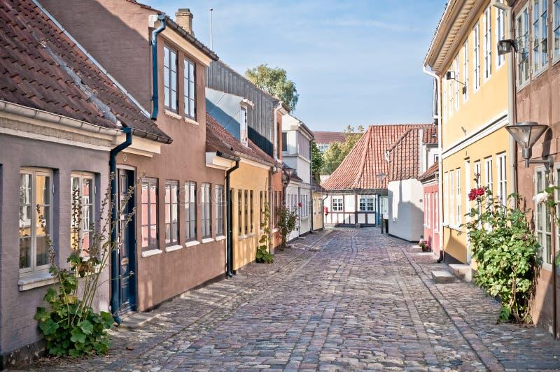 Hans Christian Andersen straat stock foto's