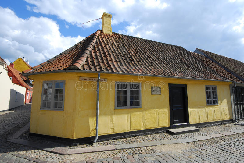 Hans- Christian Andersenhaus in Odense, Dänemark lizenzfreie stockfotos
