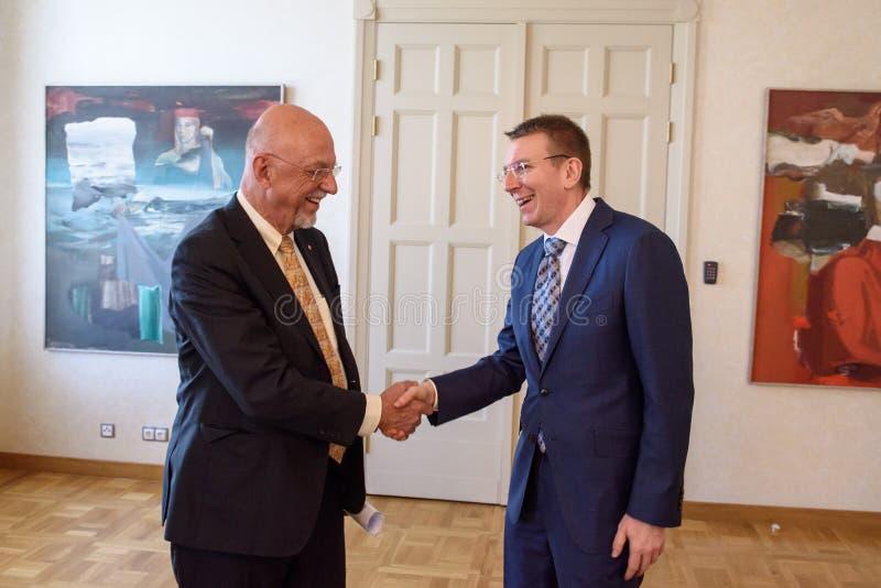 Hans Dahlgren e Edgars Rinkevics foto de stock royalty free