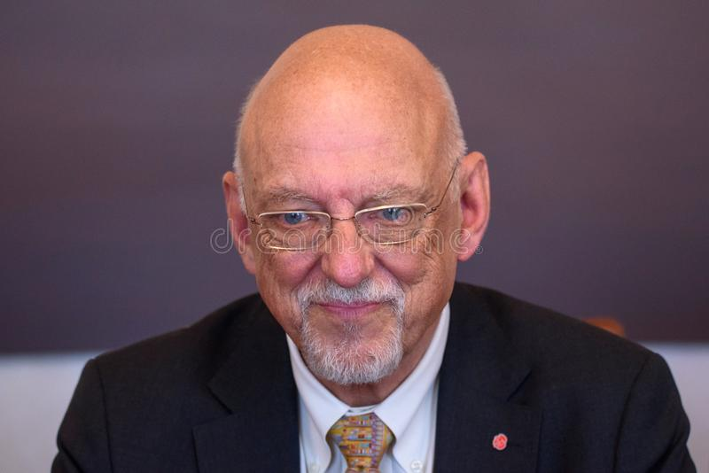 Hans Dahlgren, ministro para casos da UE da Suécia fotografia de stock royalty free