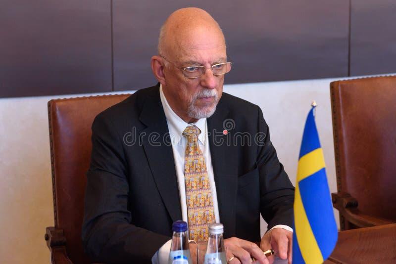 Hans Dahlgren, ministro para casos da UE da Suécia foto de stock royalty free