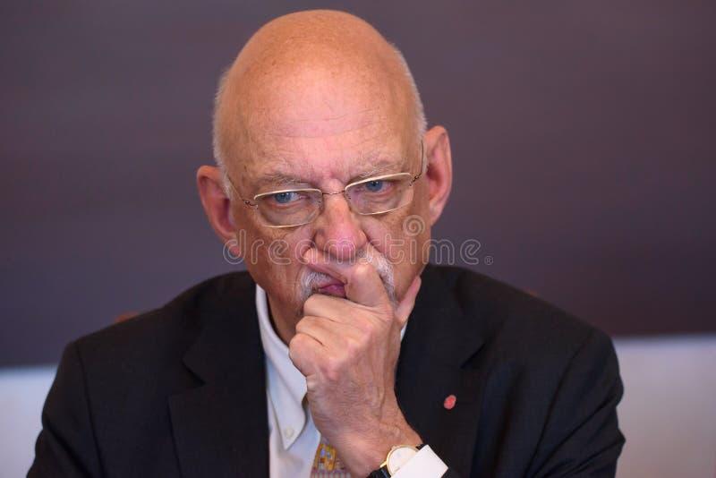 Hans Dahlgren, ministro para casos da UE da Suécia imagens de stock royalty free