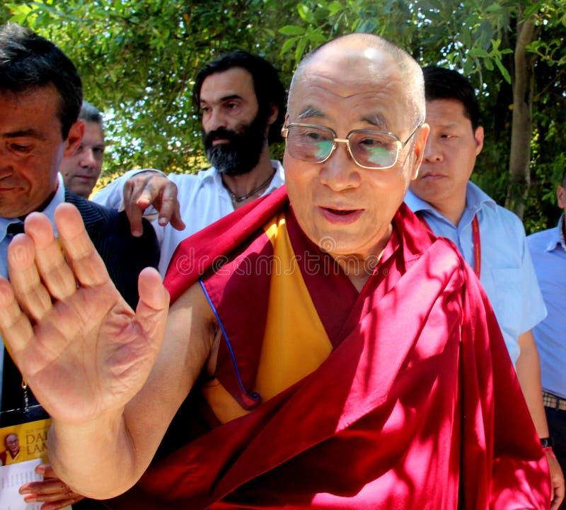 Hans helighet XIVEN Dalai Lama Tenzin Gyatso arkivbild