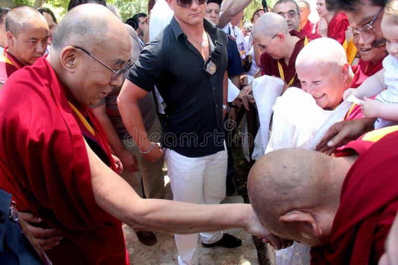 Hans helighet XIVEN Dalai Lama Tenzin Gyatso royaltyfri fotografi