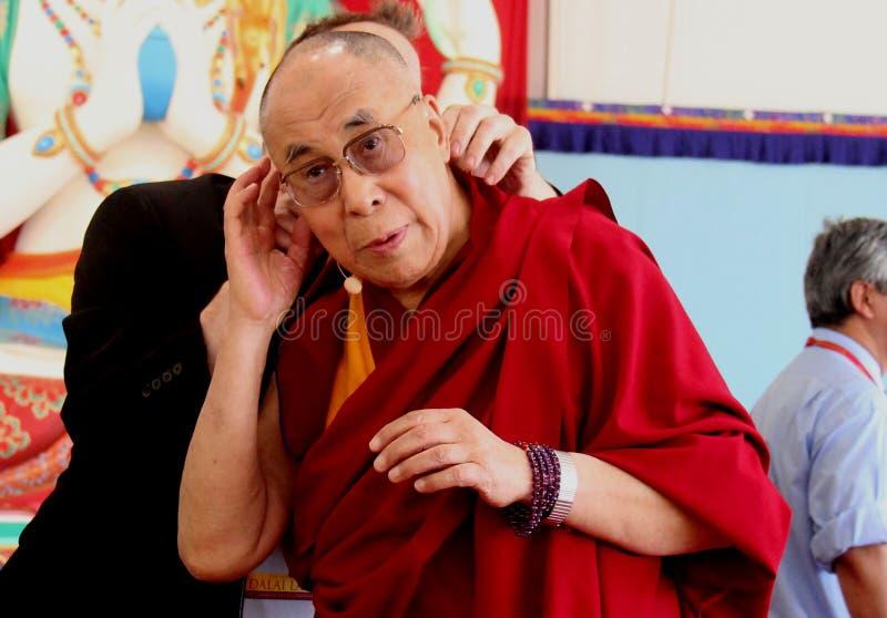 Hans helighet XIVEN Dalai Lama Tenzin Gyatso arkivfoto