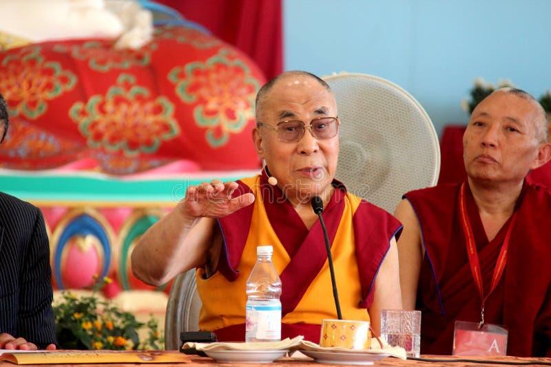 Hans helighet XIVEN Dalai Lama Tenzin Gyatso arkivfoton