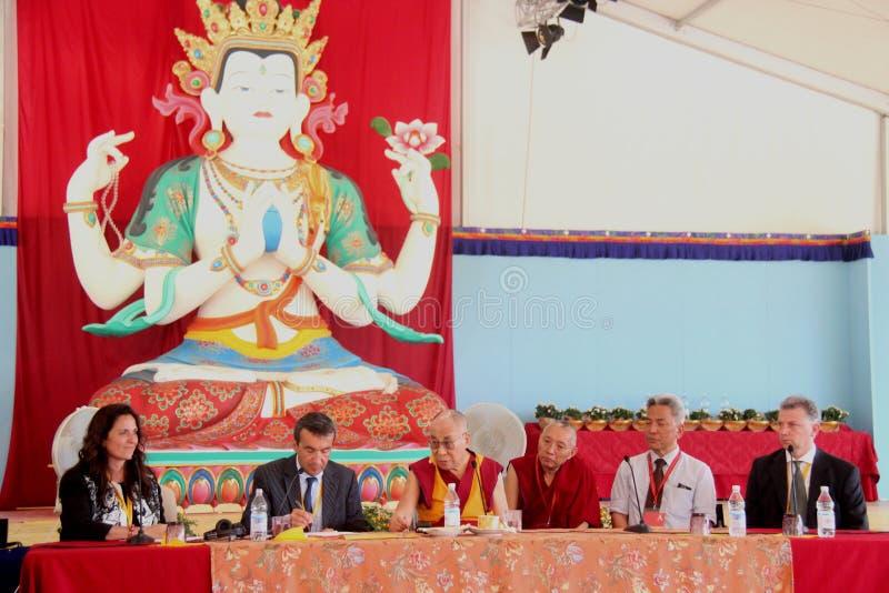 Hans helighet XIVEN Dalai Lama Tenzin Gyatso royaltyfria bilder