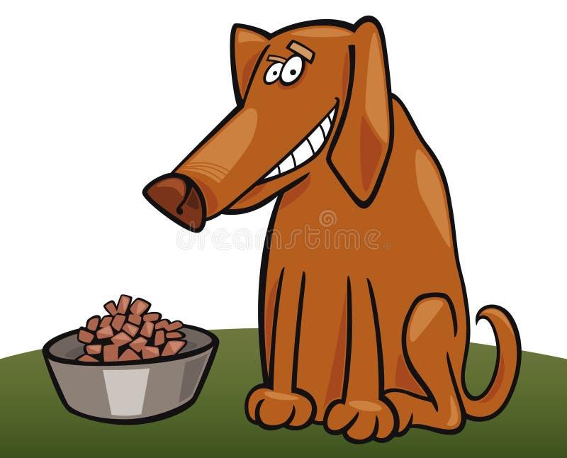 hans hundfodder royaltyfri illustrationer