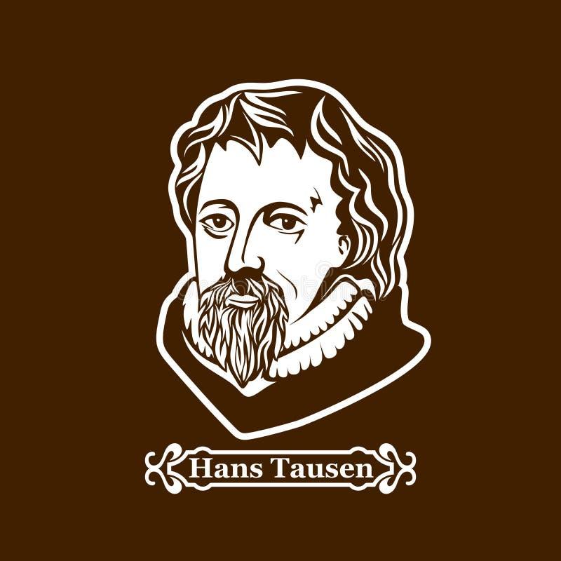 Hans Tausen protestantism Ledare av den europeiska Reformationen stock illustrationer