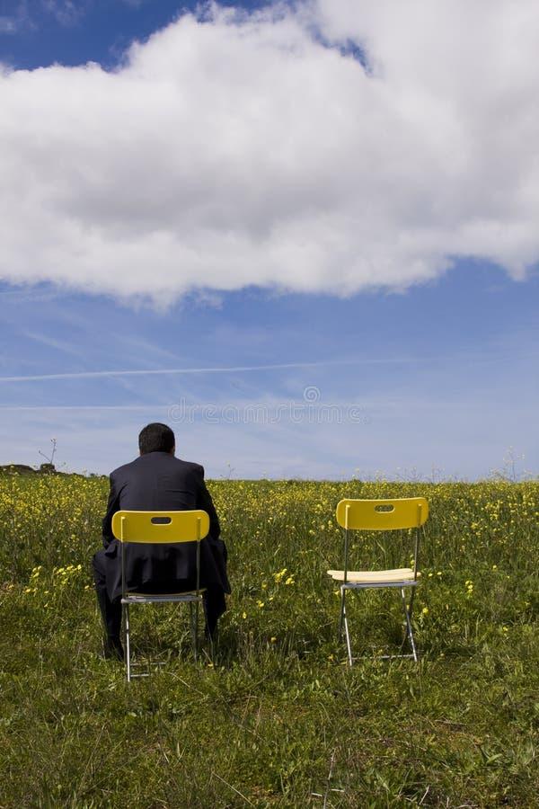 hans vänta för deltagare royaltyfri bild