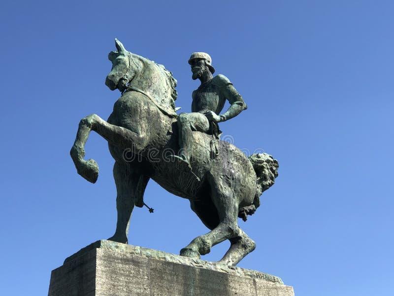 Hans Waldmann Statue in de stad van Zürich royalty-vrije stock foto's