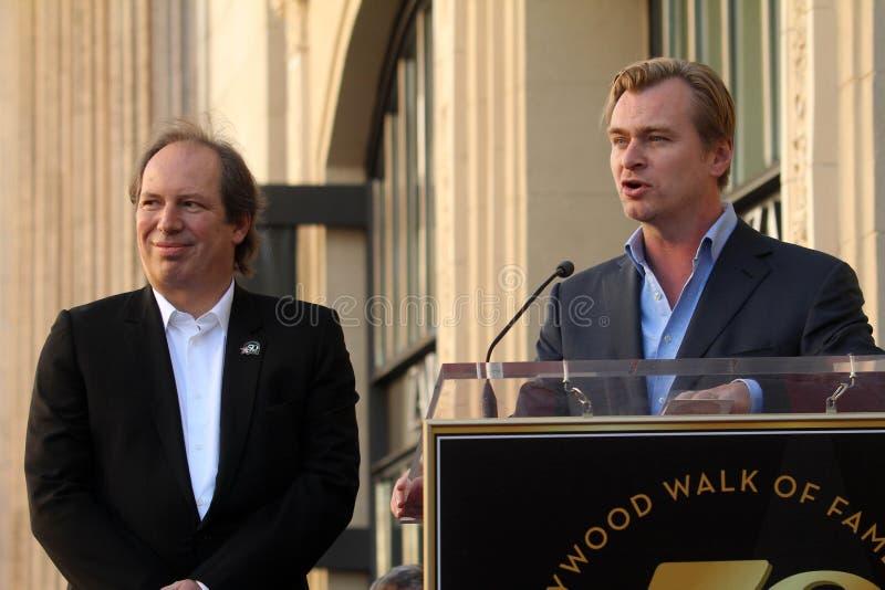 Hans Zimmer, Christopher Nolan royalty-vrije stock fotografie