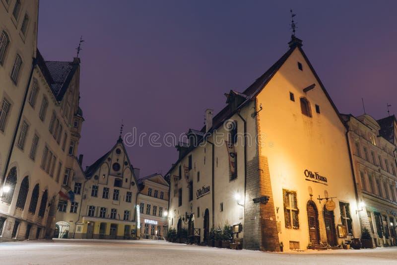 Hansa Olde κτήριο εστιατορίων στην παλαιά πόλη του Ταλίν στοκ εικόνες με δικαίωμα ελεύθερης χρήσης
