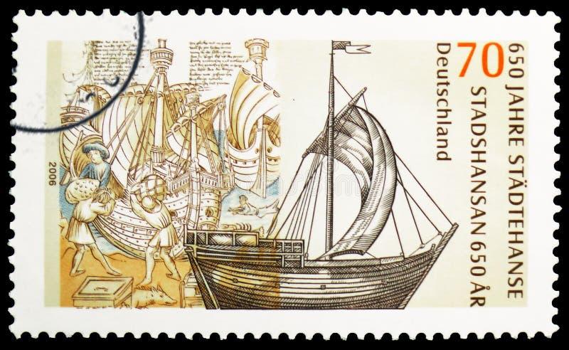 Hanse-St?dte, 650. Jahrestag von Hanseatic Liga serie, circa 2006 stockfoto