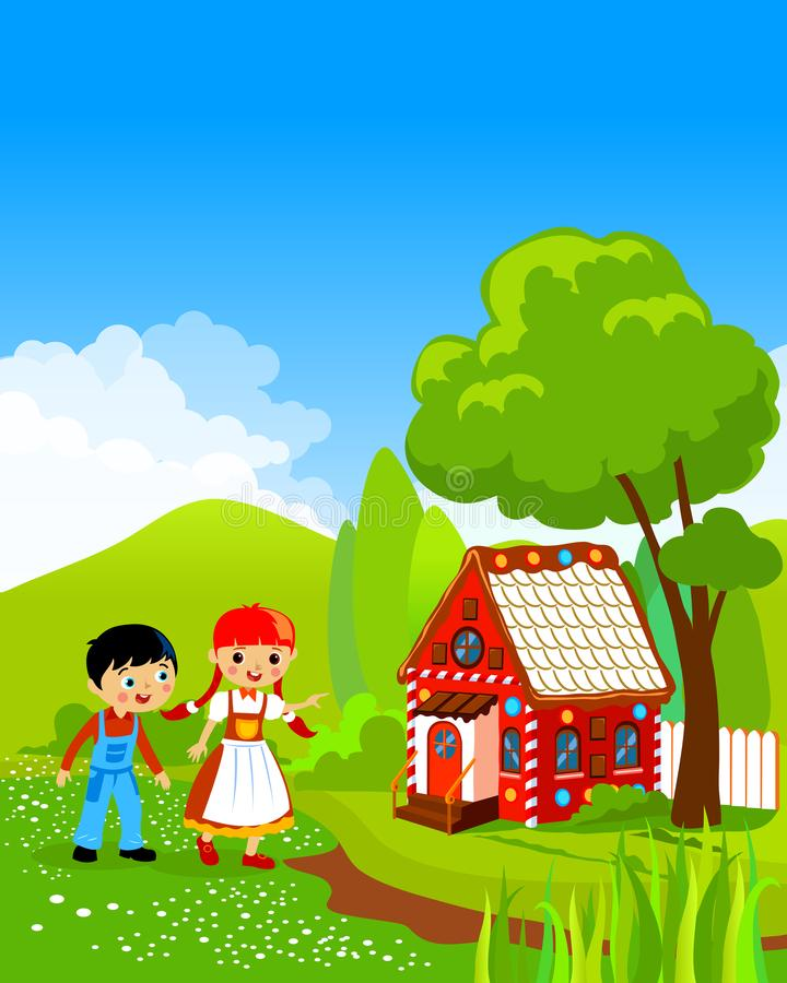Hansel e Gretel Fairy Tale illustrazione di stock