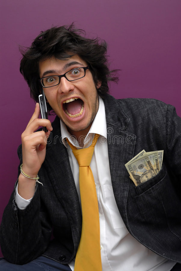Free Hansome Young Man With Phone Stock Photo - 8513990