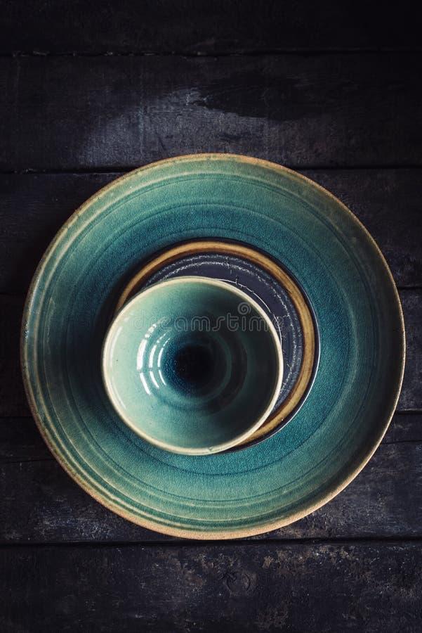 Hantverk gjord maträtt royaltyfri bild