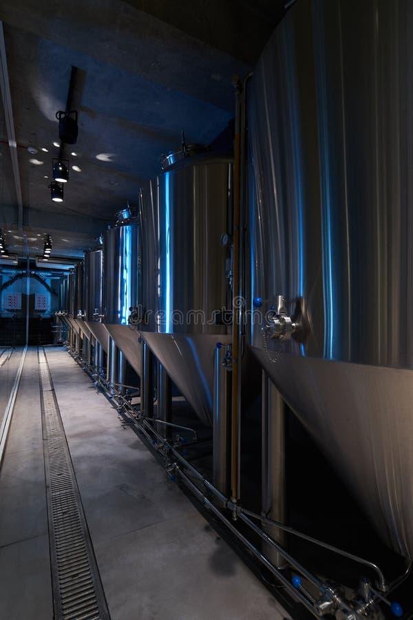 Hantverk?lproduktion i privat bryggeri, n?rbild royaltyfria foton