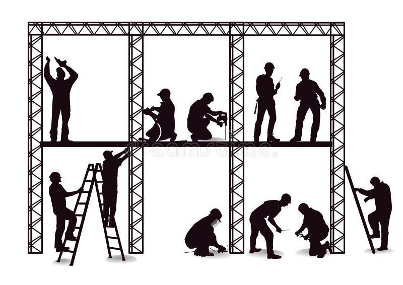 Hantverkare på konstruktionsplatsen vektor illustrationer