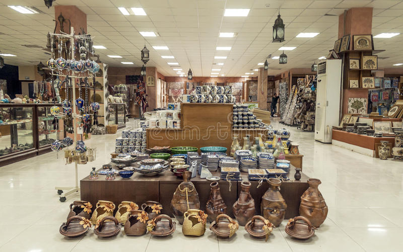 Hantverket shoppar i Jordanien arkivbild