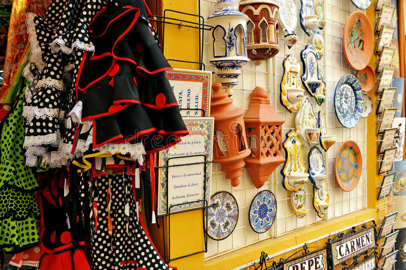 Hantverksouvenir i Cordoba, Spanien royaltyfri bild