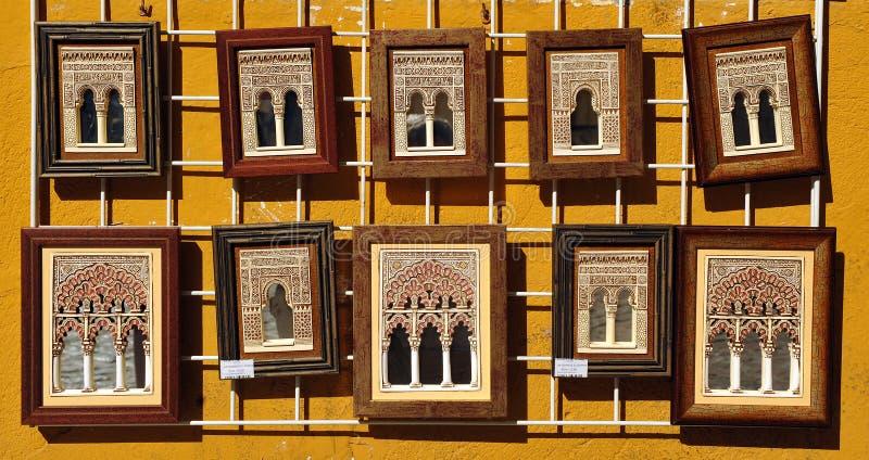 Hantverksouvenir i Cordoba, Spanien royaltyfri foto