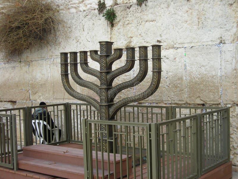 Hanuka στον τοίχο στοκ εικόνες