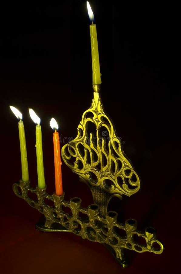 Download Hanuka Candles In Hanukkiya Stock Image - Image: 1550279