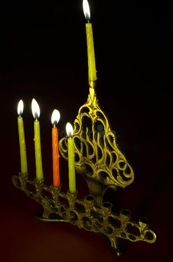 Download Hanuka Candles In Hanukkiya Stock Photo - Image of hebrew, candelabrum: 1550300