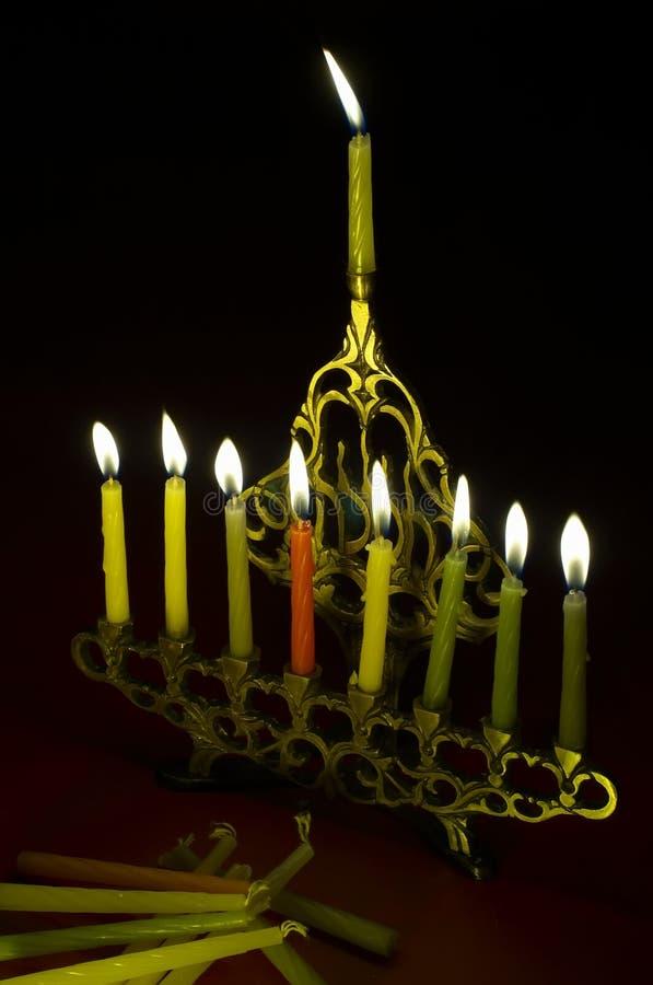 Free Hanuka Candles In Hanukkiya Stock Photos - 1550243