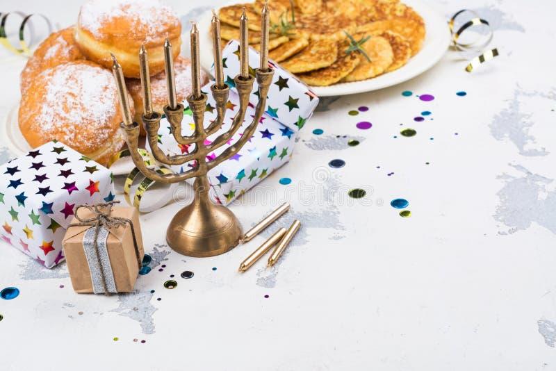 Hanukkah świąteczny tło fotografia stock