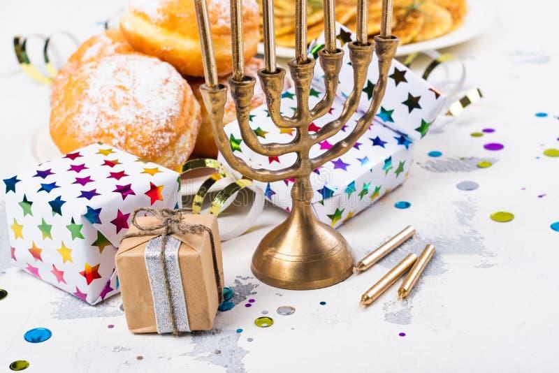 Hanukkah świąteczny tło obrazy stock