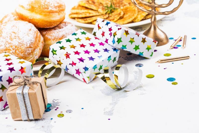 Hanukkah świąteczny tło obraz stock