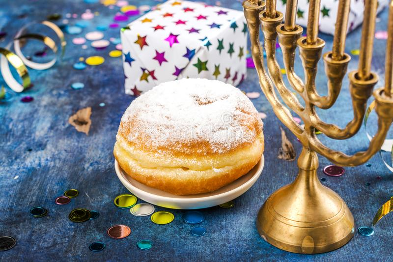 Hanukkah świąteczny tło obraz royalty free