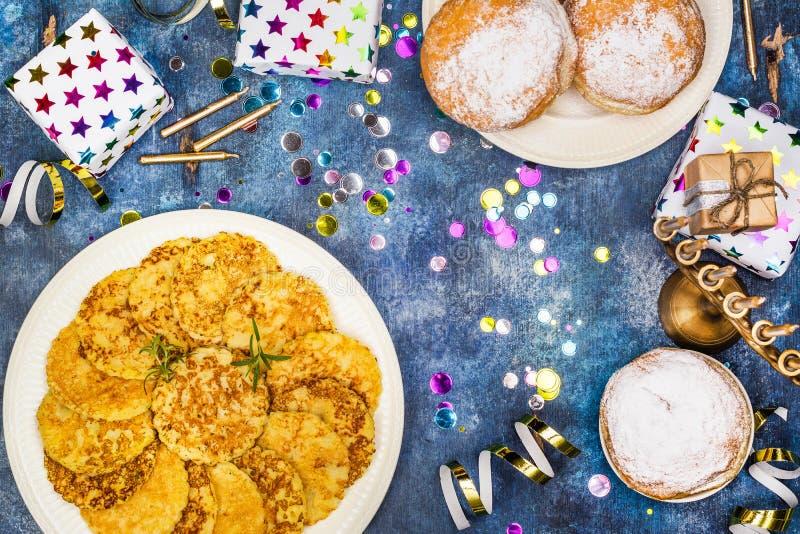 Hanukkah świąteczny tło zdjęcie stock