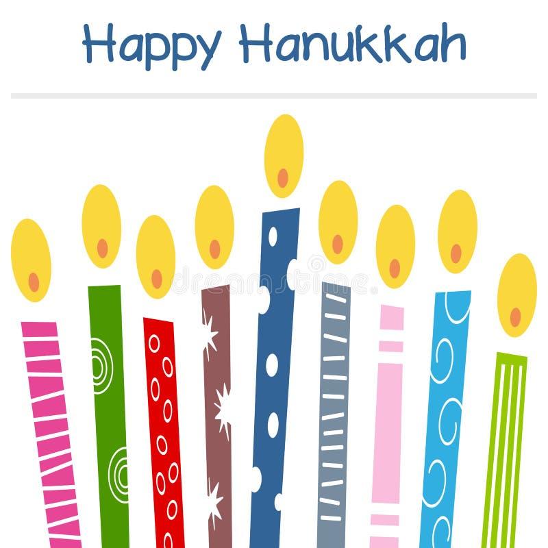 Hanukkah świeczek kartka z pozdrowieniami ilustracji
