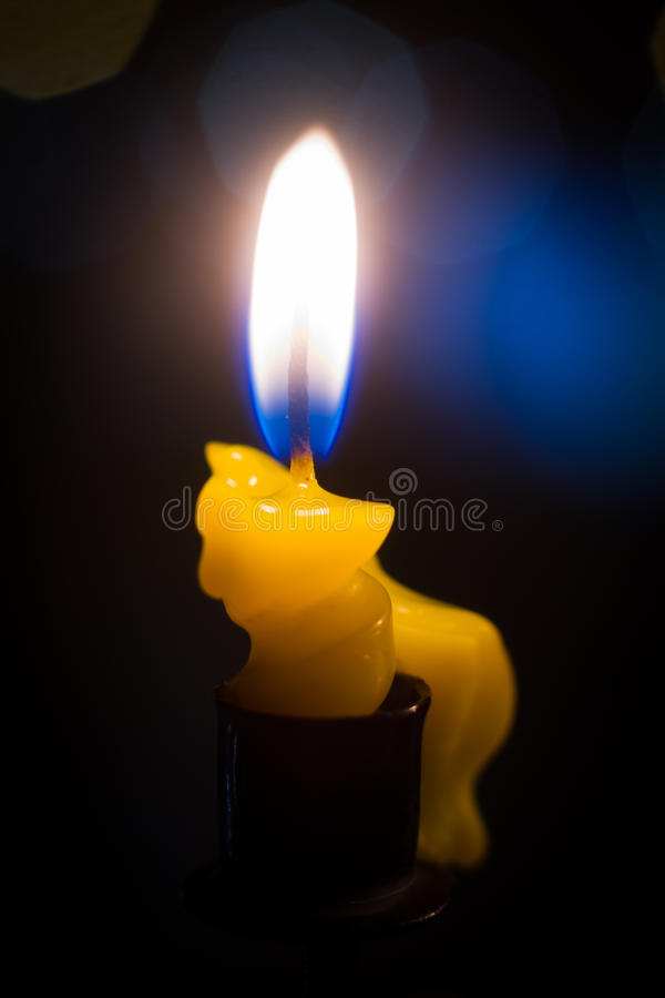 Hanukkah świeczki zdjęcia stock